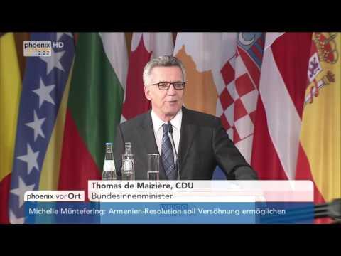 Antiterrorismus-Konferenz: Reden von Frank-Walter Steinmeier und Thomas de Maizière am 31.05.2016