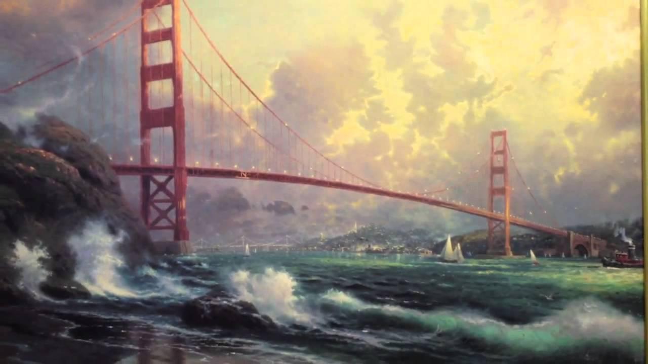 Thomas Kinkade Painting Golden Gate Bridge San Francisco