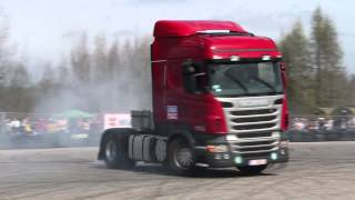 Scania drift and burnout