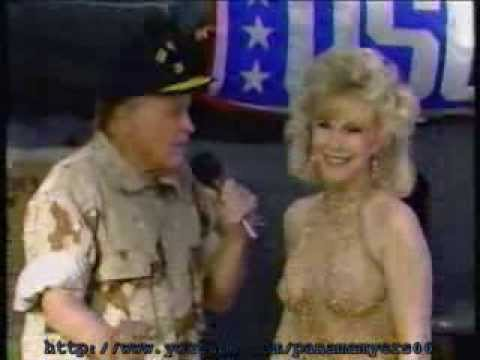 Bob Hope and Barbara Eden Persian Gulf 1988