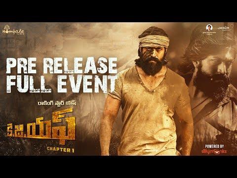 KGF (Telugu) Pre Release Event | Yash | Srinidhi Shetty | Prashanth Neel | Vijay Kiragandur