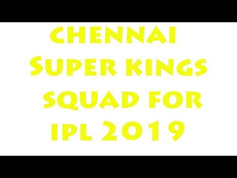 IPL-2019 | Chennai Super Kings Final Players List || Chennai Super Kings Final Team Squad 2019