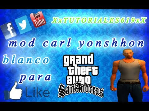 como descargar a carl johnson blanco para gta san andreas