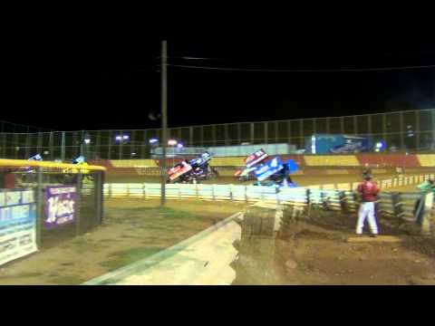 Lincoln Speedway World of Outlaws Sprint Car Highlights 5-16-13