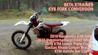 BETA XTRAINER KYB FORK CONVERSION FIRST RIDE