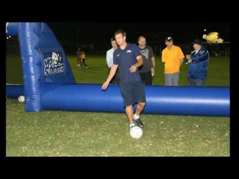 Lucas Neill and Mr Soccer training with EWFC on Thursday 12th April 2013