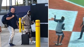 Antonio Brown ARRIVES & Warms Up For New England Patriots, Dolphins Game!#NFL #ESPN #Patriots