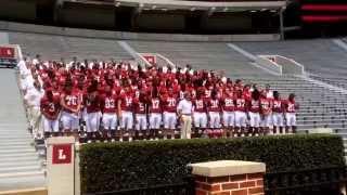 The 2015 Alabama Crimson Tide Football Team Picture
