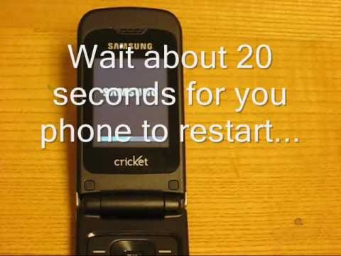 How to erase / reset Samsung Chrono R261 personal data and phone settings
