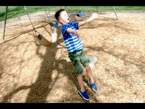 6 year old falls out of swing