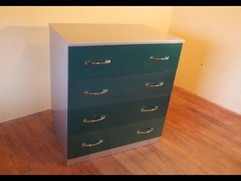 Como pintar mueble con pintura de auto youtube - Pintar muebles lacados en blanco ...