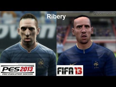 PES 2013 vs FIFA 13 Face Comparison FRANCE (National Team) Benzema, Ribery
