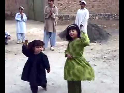 Little girls dancing to Pashto music
