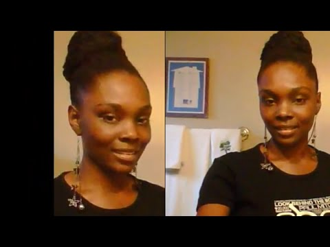 How to do a weave ponytail with kanekalon hair!
