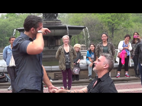 Carl and Drew's Flash Mob Marriage Proposal in Central Park