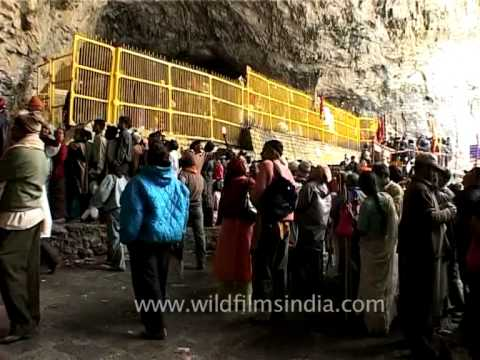 The view of Amarnath's holy cave!