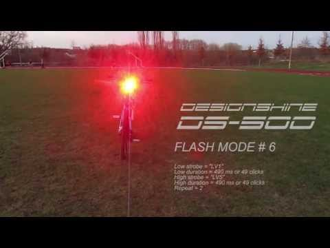 DESIGNSHINE DS-500 FLASH MODE PREVIEW (PROGRAMMING)