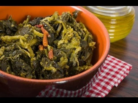 Cime di Rapa Stufate ,Ricetta Pugliese , Ricetta vegetariana