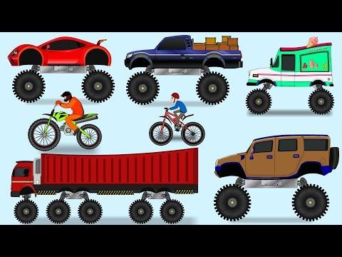 Monster Street Vehicles | Cars | Learn Vehicles | Videos for Children | Little Kids TV