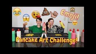 EMOJI PANCAKE ART CHALLENGE! - Bibi & Tobias