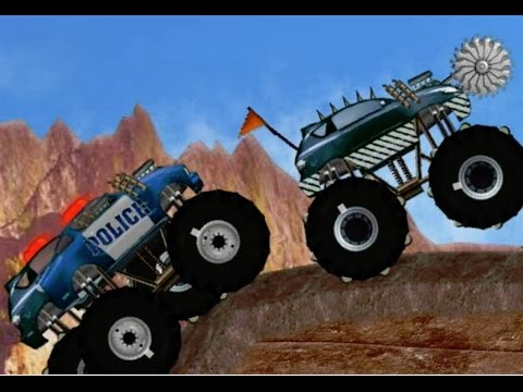 Police Monster Truck Vs Monster Truck - Trucks For Children - Kids Cartoon