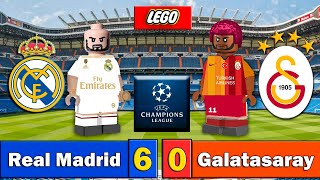 REAL MADRID 6-0 GALATASARAY - UCL - Champions League - Resumen y Goles - Fútbol LEGO - Stop Motion