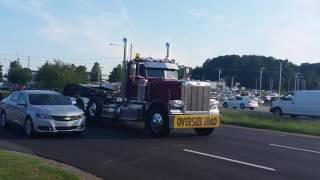 Custom Peterbilt 389 lowboy, Mack dump truck