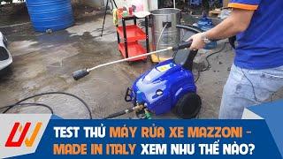 Cùng trải nghiệm và đánh giá sản phẩm Máy rửa xe áp lực cao Mazzoni - Made in Italy
