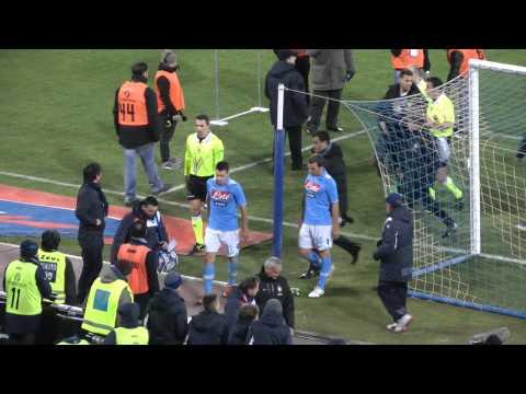 Napoli inter 2 0 25 01 2012 gol di cavani live in hd dalla curva b