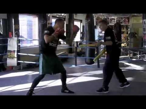 JAMES DeGALE OFFICIAL MEDIA WORKOUT WITH TRAINER JIM McDONNELL / DeGALE v PERIBAN