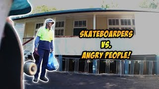 SKATERS vs. HATERS #43! | Skateboarders vs. Angry People Skateboarding Compilation