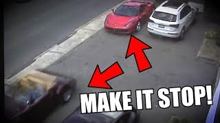 My Ferrari 458 HIT AGAIN! (with Security Camera Footage)