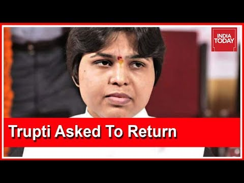 Trupti Desai Asked To Return To Pune Following Massive Protests