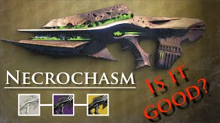Destiny - How to get Necrochasm (Exotic Auto Rifle) /Husk of the Pit! Is it good?