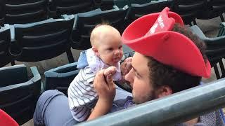 Baby Joshua at RailCats Baseball Game