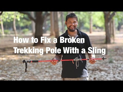 How to Fix a Broken Trekking/Tent Pole With a Sling