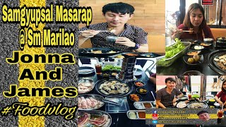 Samgyupsal masarap sm marilao😍 | Jonna and James | food vlog