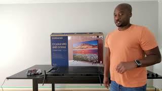 How to install the legs on the Samsung TU7000 Crystal UHD 4K TV (2020)