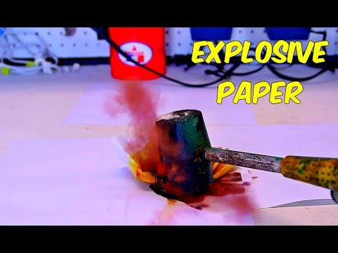 Explosive Paper