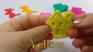 Learn Colors Play Doh House Dog Molds Fun Creative Baby Nursery Rhymes For Kids Children