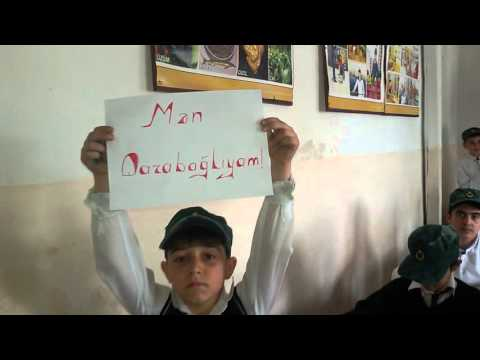 Araz qesebe orta mekteb sagirdlerinin Qarabaga desteyi