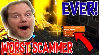 WORST Scammer Scams Himself in Fortnite Save The World *MUST WATCH*