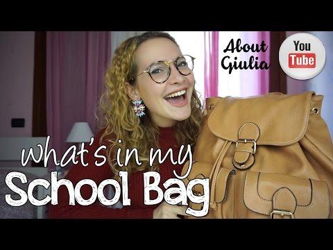 what's in my SCHOOL BAG