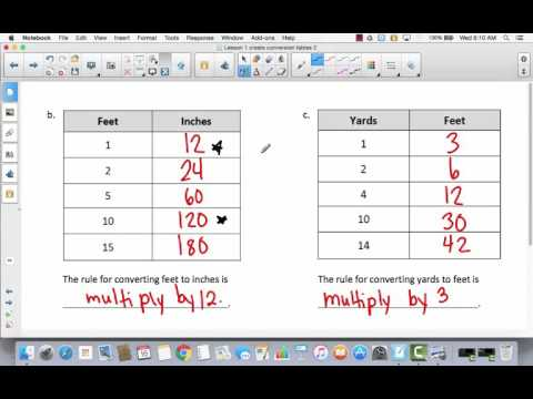Mod 7 Lesson 1 create conversion tables