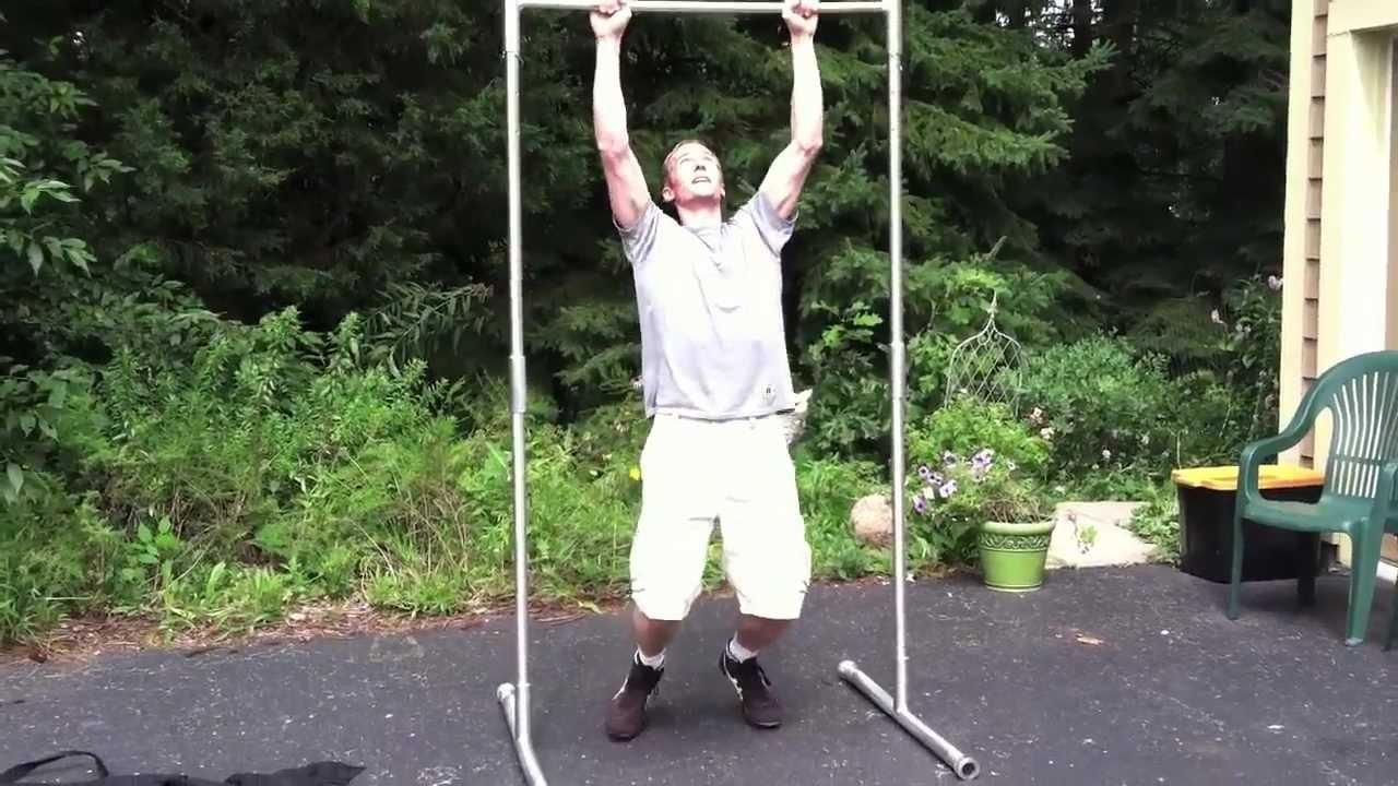 Cómo construir una barra del levantamiento hecho en casa al aire libre Free Standing