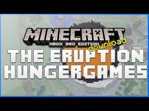 Minecraft Xbox 360 - The Eruption Active Volcano AMAZING! hungergames With Download [TU16 MAP]