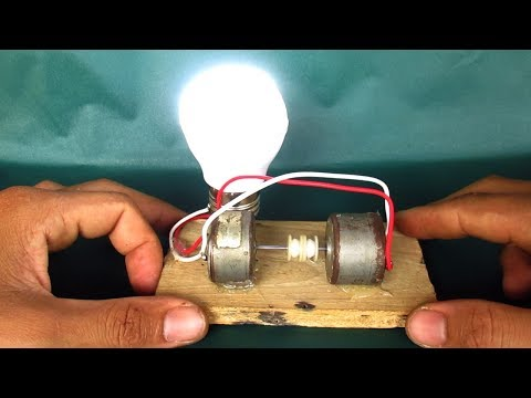 Free energy light bulbs with motor - DIY projects experiments at home 2018 thumbnail