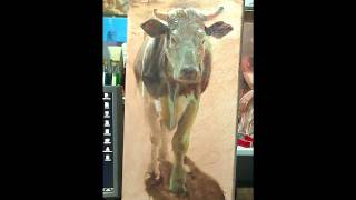 "Oil Painting ""Cow"""