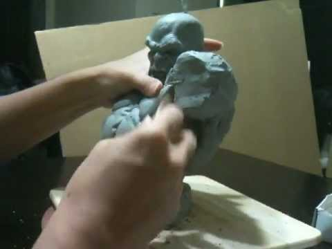 Sculpting The Incredible Hulk Bust - Part 1
