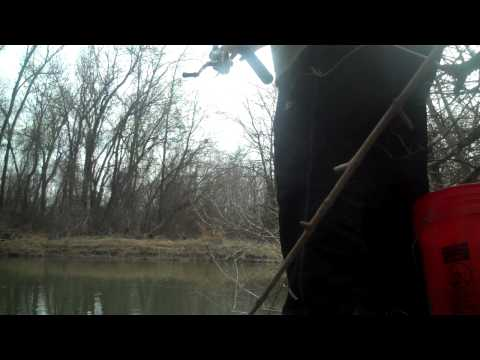 Winter Crappie from the bank 2